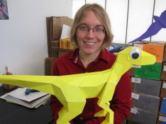 Lisa Glover is the founder of Architrep, which produces and sells origami dinosaur kits called KitRex.