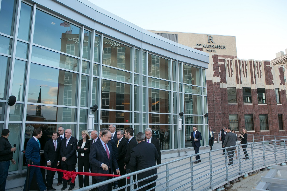 Hundreds Attended The Ribbon Cutting At Allentown Renaissance Hotel Photo Courtesy City