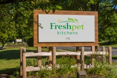 The entrance to the Freshpet Kitchens facility in Hanover Township.