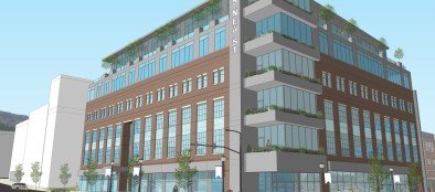 A rendering of the $20 million development project at Third and New streets in Bethlehem.