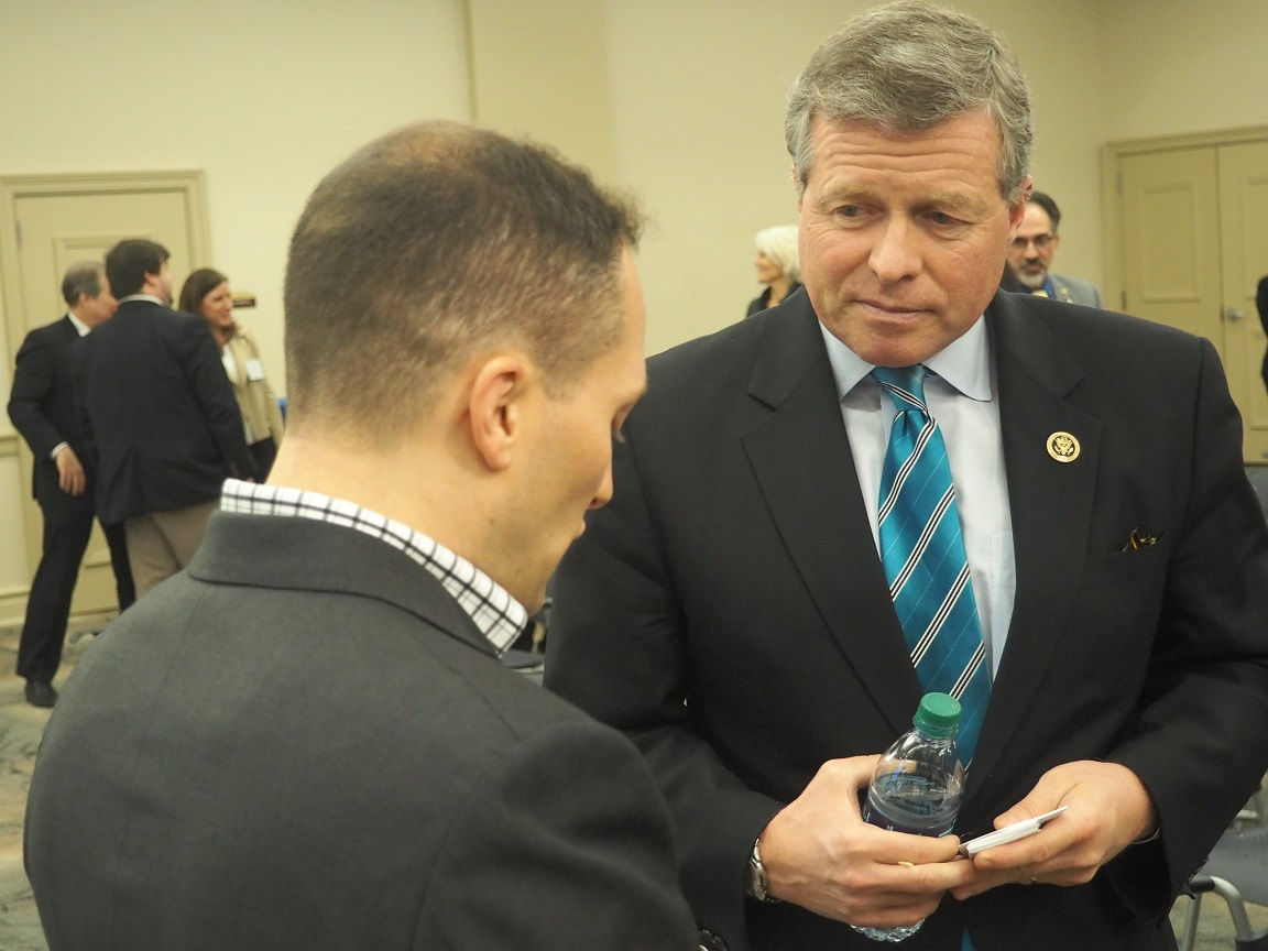 U.S. Rep Charlie Dent spoke at LVEDC's first Conversations and Cocktails event of the year.