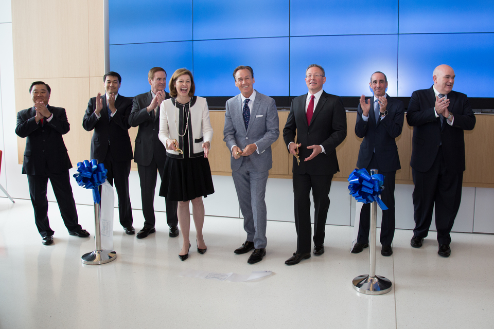 Guardian Life Insurance President and CEO Deanna M. Mulligan and Pennsylvania Lieutenant Governor Mike Stack were among those at the Guardian Life Insurance ribbon-cutting ceremony in July 2016.
