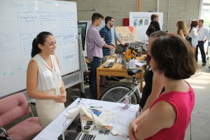 Sasha Rubman, 20, discusses her project at the LaunchBayC Demo Day.