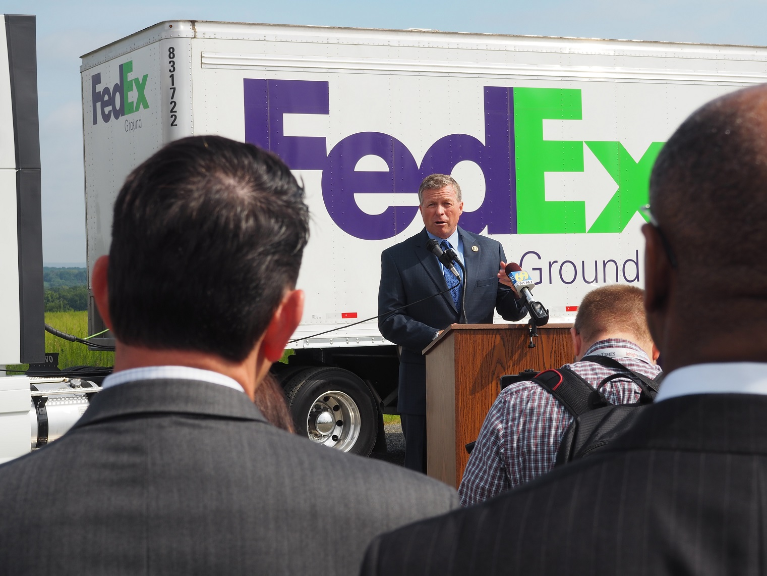 U.S. Rep Charlie Dent speaking at the Fedex Ground groundbreaking in Allen Township.