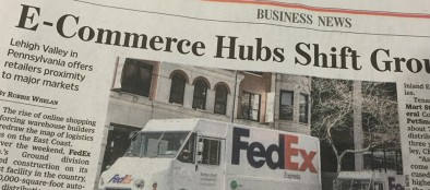 Wall Street Journal Lehigh Valley e-commerce article (cropped)