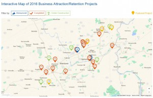 The digital version of the LVEDC 2016 Annual Report includes an interactive map of all the Lehigh Valley's major business attraction/retention projects for the year.