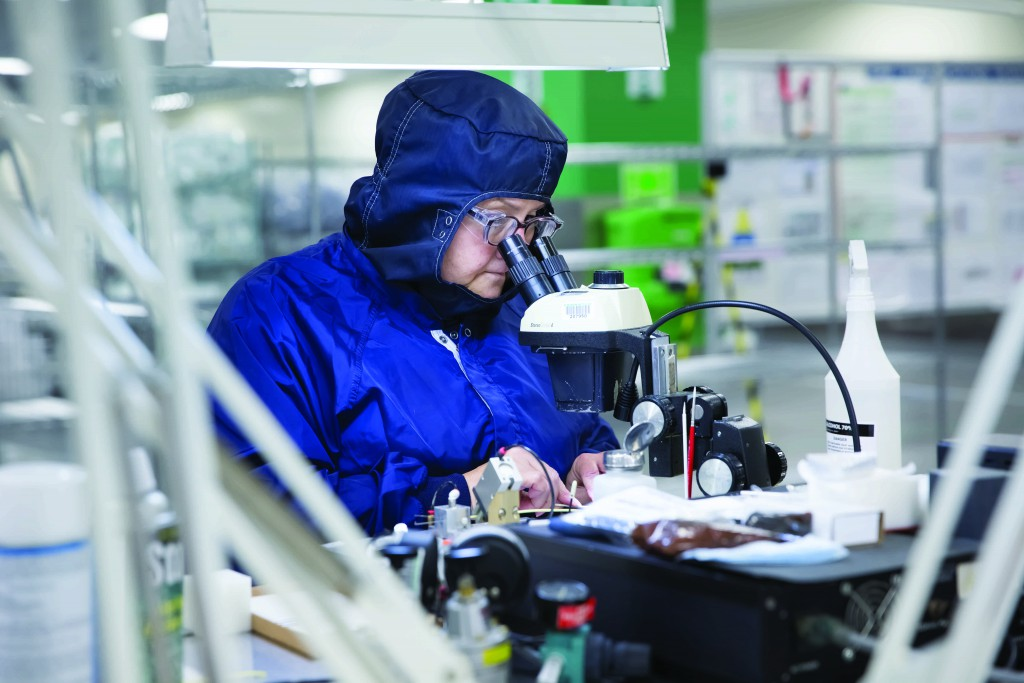 """An employee at B Braun Medical, one of four companies that will participate in a panel discussion at the """"Manufacturing Momentum in Bethlehem"""" event."""