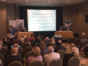 "The ""Manufacturing Momentum in Bethlehem"" event included a panel discussion with speakers from B Braun Medical, Curtiss-Wright. OraSure Technologies, and Soltech Solutions."
