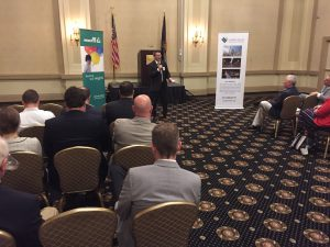 More than 50 people attended the LVEDC Conversation & Cocktails event with acting Pennsylvania DEP Secretary Patrick McDonnell.
