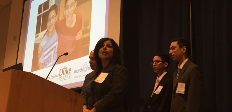 The ambassador family at this year's event was (left to right) Anita, Cyrus, and Sam Desai.