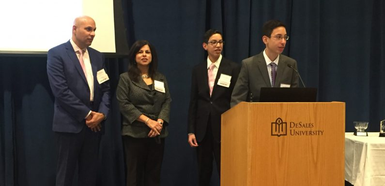 The ambassador family at this year's event was (left to right) Darius, Anita, Cyrus, and Sam Desai.