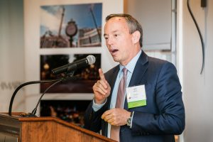 John Malloy, Chairman, President, and CEO of Victaulic, speaking at the 2017 LVEDC Fall Signature Event.