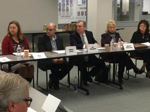 LVEDC President & CEO Don Cunningham (center) was among the panelists in the roundtable discussion.