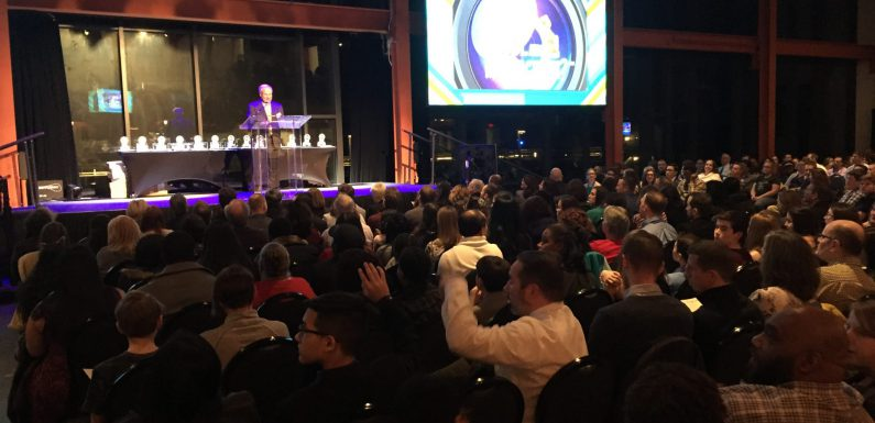 """An announced crowd of more than 900 people attended the """"What's So Cool About Manufacturing?"""" student video contest ceremony at Bethlehem's ArtsQuest Center at SteelStacks."""