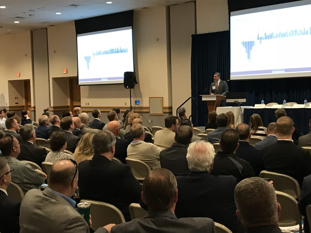 Keith Aleardi, Chief Investment Officer with Fulton Financial Advisors and President & CIO of Clermont Wealth Strategies, speaking at the 2018 Lehigh Valley Real Estate & Development Symposium.