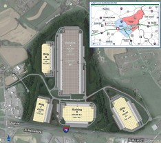 The West Hills Business Center site plan.