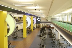 The interior of the fitness center at LVHN-One City Center.