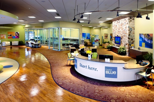 The interior of the Capital Blue health and wellness store at the Promenade Shops at Saucon Valley.