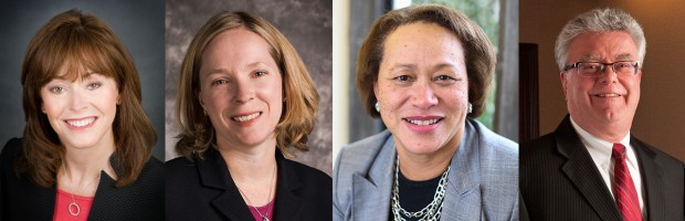 LVEDC welcomes new Board of Directors Cindy Feinberg, Lauren Goff, Patricia Johnson and Dan McCarthy (respectively).