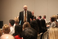 """Todd Cohen, author of the book """"Everyone's in Sales,"""" speaking at DeSales University."""