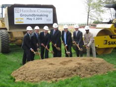 A groundbreaking ceremony was held for the $140 million Hamilton Crossings project, which will include a Target, Whole Foods and Costco Wholesale Club.