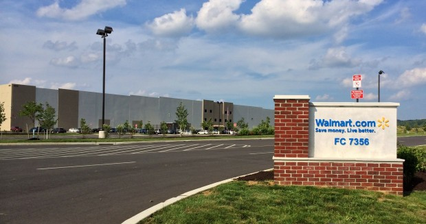 The new 1.2 million square foot Walmart e-commerce fulfillment center in Bethlehem's Lehigh Valley Industrial Park VII. (photo courtesy Walmart)