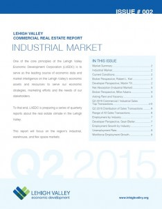 The cover of the Lehigh Valley Commercial Real Estate Report, issue 2.