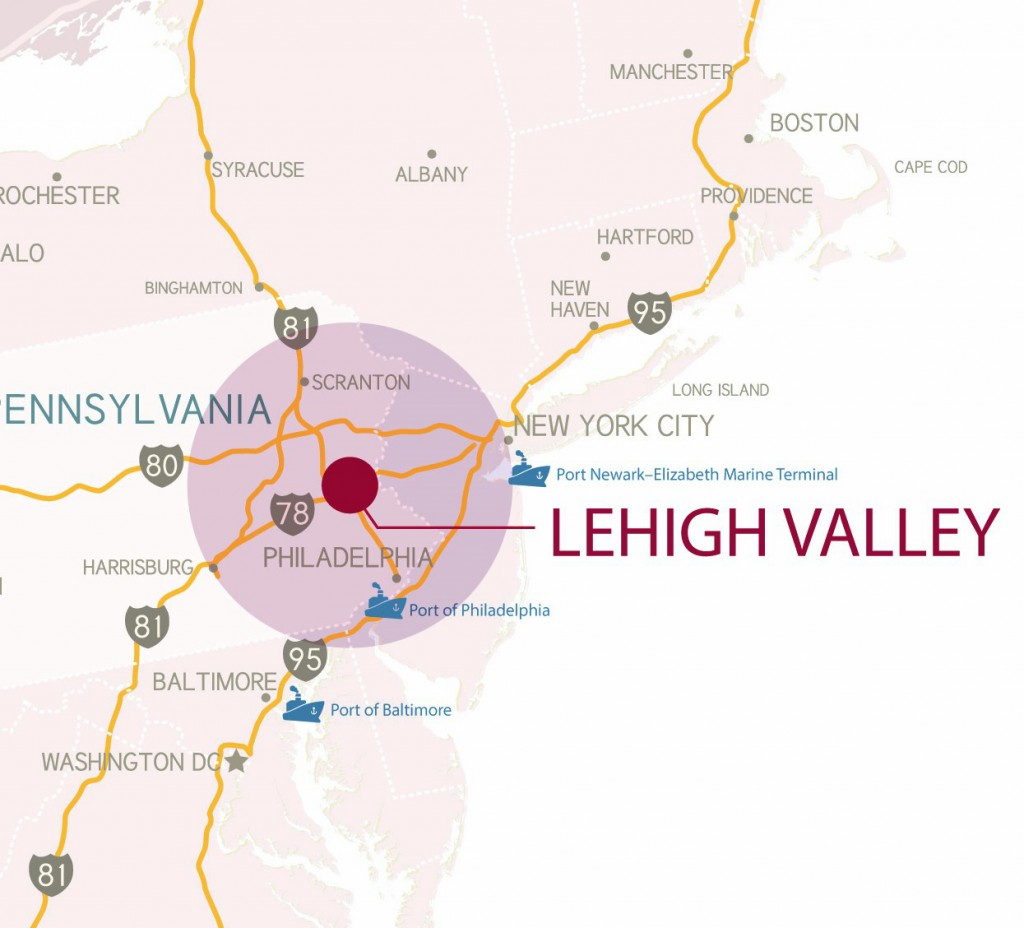 Maps of the Lehigh Valley - Lehigh Valley, PA - Lehigh Valley, PA
