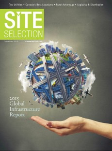 The cover of the September 2015 edition of Site Selection magazine.