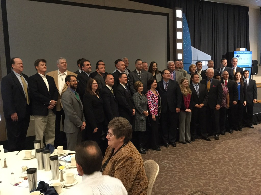 A photo of the companies recognized at the 2015 Lehigh Valley Business Fastest Growing Companies event.