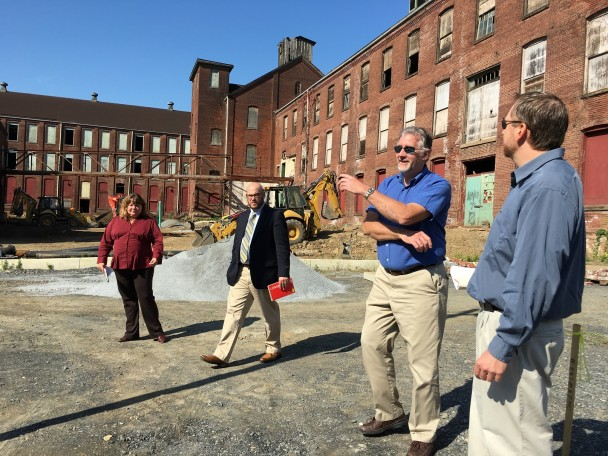 Representatives from the Pennsylvania Department of Environmental Protection (DEP) visited sites in Easton and Allentown during an Oct. 8 a tour led by LVEDC.