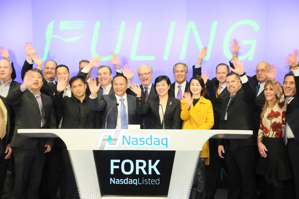 Fuling Plastics took part in the NASDAQ Stock Exchange opening bell ceremony in New York City on November 24, 2015. LVEDC representatives were in attendance.