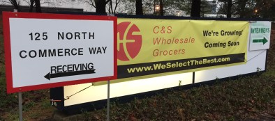 The sign outside the C&S Wholesale Grocers facility at 125 N. Commerce Way in Hanover Township, Northampton County.