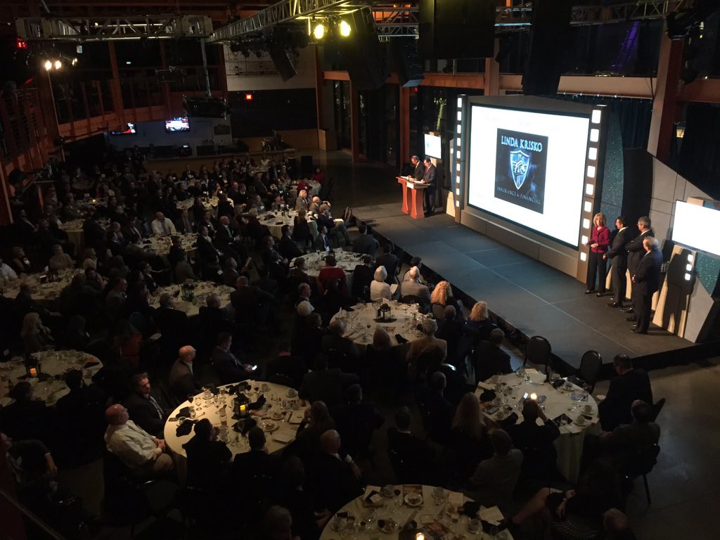 More than 400 people attended the 2015 Lehigh Valley Business of the Year Awards event at the ArtsQuest Center at SteelStacks.