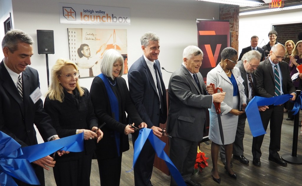 A ribbon-cutting was held for Lehigh Valley LaunchBox at the Velocity business incubator in Allentown.