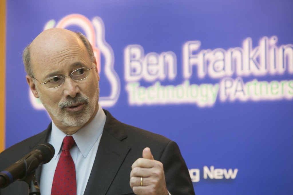 "Pennsylvania Gov. Tom Wolf visited Ben Franklin TechVentures recently as part of his ""Jobs That Pay"" tour."