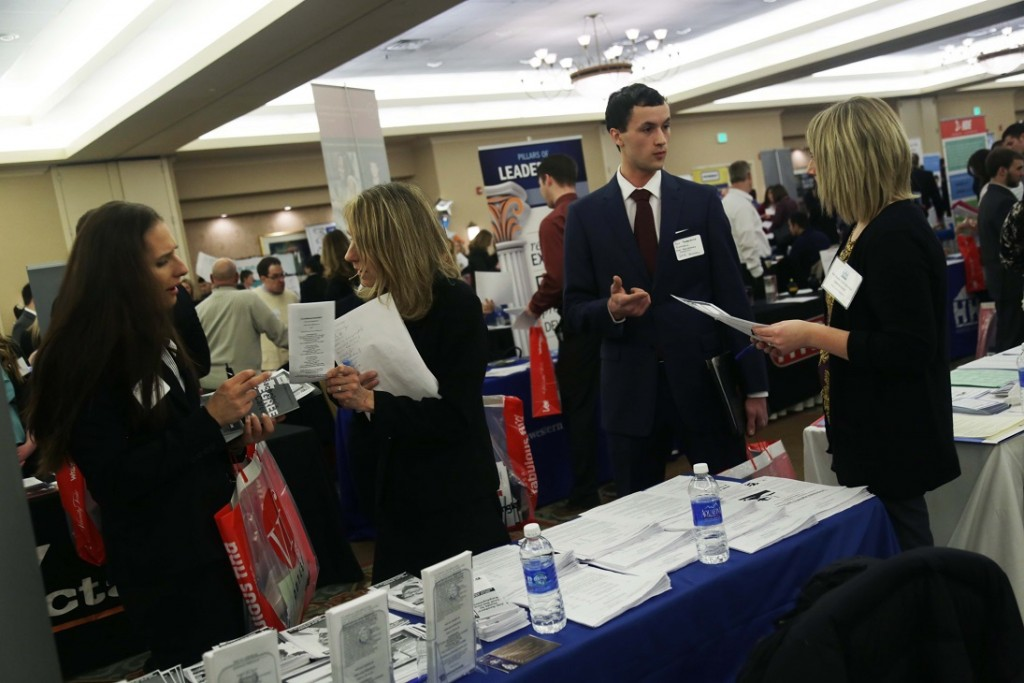 Students and employers participating in the 2015 Lehigh Valley Collegiate Career Expo. (photo courtesy LVCCE)