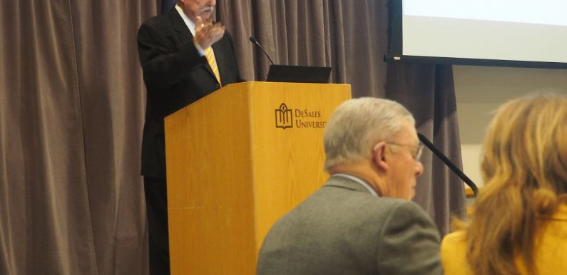 Lehigh County Executive Tom Muller delivered his State of the County address at DeSales University.