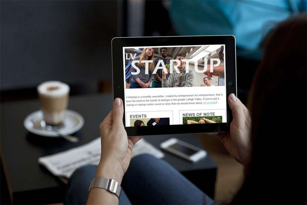 LVstartup is a monthly e-newsletter about the Lehigh Valley entrepreneurial scene.