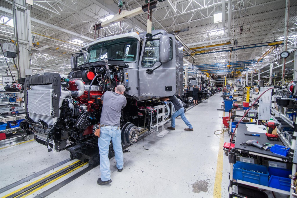 Mack Trucks has announced plans to invest $70 million in its Lower Macungie Township facility. (Photo by Marco Calderon)