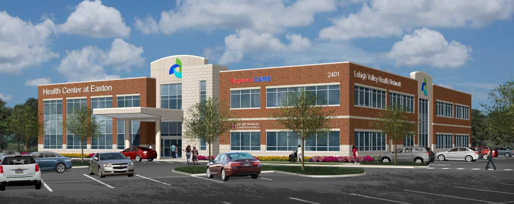 A rendering of the Lehigh Valley Health Network's planned Health Center at Easton.
