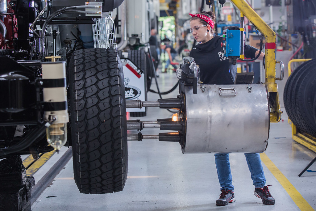 Today, there are about 680 manufacturers in the Lehigh Valley with about 32,000 employees making everything from Mack Trucks (pictured) to medical supplies and devices, and much more. (Photo by Marco Calderon)