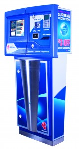 An example of one of the kiosks ICS designs for car washes, which simplify customer interaction.