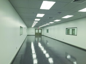 An interior shot of the production hallway at the new Sharp Packaging Solutions building. (courtesy photo)