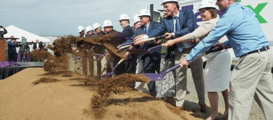 Fedex Ground held a groundbreaking for its 800,000 square-foot automated facility in Allen Township.