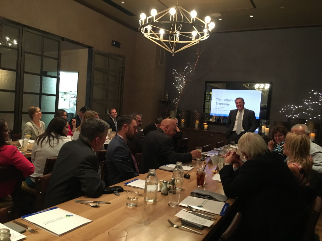 Don Cunningham speaking to a group of Lehigh Valley legislators and staff members at The Hamilton Kitchen & Bar in Allentown.