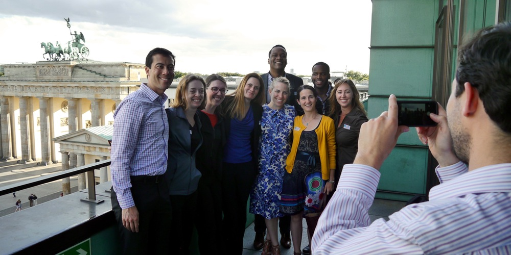 The 2015-16 cohort of the Robert Bosch Foundation Fellowship Program, a professional exchange Cultural Vistas has administered for more than 30 years, visits Berlin. (courtesy photo)
