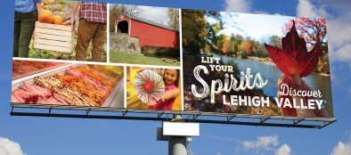 A billboard featuring branding from the new marketing campaign by Discover Lehigh Valley. (courtesy photo)