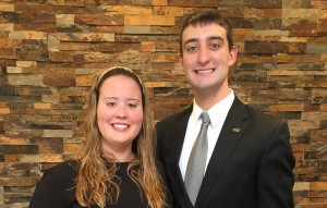 Matt Heintzelman, founder of Eternally Art, with his twin sister Erin, who is studying to become a funeral director.