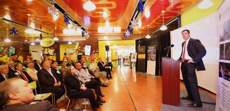 Crayola President and CEO Smith Holland speaks at the LVEDC Fall Signature Event at the Crayola Experience in Easton.